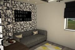 002. domowe biuro biale zlote czarne wenge home office white gold black wenge