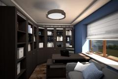 009. gabinet domowe biuro granat wenge bialy home office dark blue wenge wood