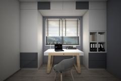 010. domowe biuro, drewno, bialy, szary, polysk, mat, home office, wood, white, grey, gloss, matt