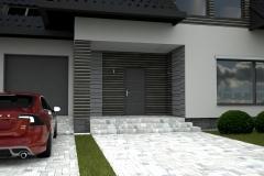 010. elewacja szara grafit beton czarna dachowka