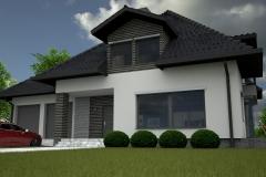 011. elewacja szara grafit beton czarna dachowka