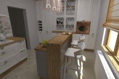 0031. Kuchnia prowansalska biała drewno white wood Provencal kitchen