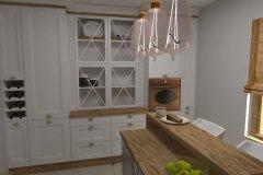 0032.Kuchnia prowansalska biała drewno white wood Provencal kitchen