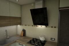 0056. kuchnia ecru drewniana lacobel mozaika kitchen ecru wood mosaic old style