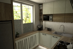 0059. kuchnia ecru drewniana lacobel mozaika kitchen ecru wood mosaic old style