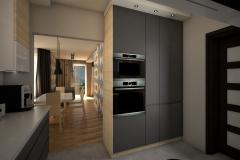 0060. kuchnia nowoczesna szary mat  bialy polysk drewno modern kitchen grey matt white gloss
