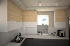 0061. kuchnia nowoczesna szary mat  bialy polysk drewno modern kitchen grey matt white gloss