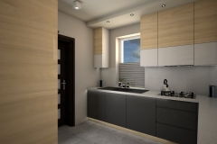 0062. kuchnia nowoczesna szary mat  bialy polysk drewno modern kitchen grey matt white gloss