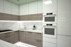 126.-kuchnia-biala-brazowa-zielona-polysk-kitchen-white-brown-green-gloss