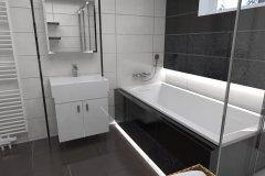 0022. łazienka czarno biała