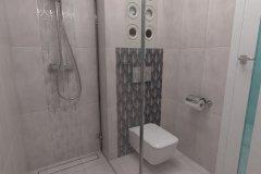 0029. Szara mała łazienka ceramika Pilch