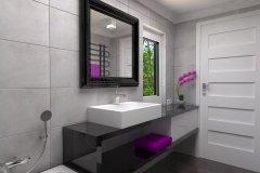 0052. łazienka Glamour Ceramika Pilch Vulcano grey