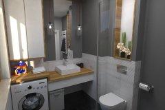 0092. lazienka w szarościach bathroom grey