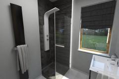 0093. lazienka w szarościach i czerniach bathroom grey and black