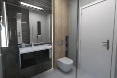 0094.  lazienka w szarościach i czerniach bathroom grey and black