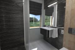 0095.  lazienka w szarościach i czerniach bathroom grey and black