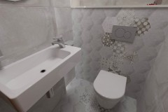 0101. lazienka beton hexagon loft, bathroom concrete