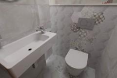 0101. lazienka beton hexagon loft, bathroom concrete