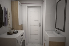 141. mala lazienka prowansalska bialy drewno carrara lawendowy small bathroom provencal white wood lavender