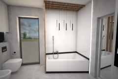 167.-lazienka-z-wanna-biala-drewno-szara-czarna-bathroom-tub-white-wood-grey