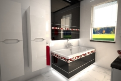 188.-lazienka-czarno-biala-z-czerwona-moazika-i-czerwonymi-szklanymi-umywalkami-bathroom-black-and-white-and-red-mosaic-and-red-sink