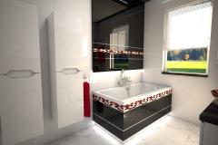 188.-lazienka-czarno-biala-z-czerwona-moazika-i-czerwonymi-szklanymi-umywalkami-bathroom-black-and-white-and-red-mosaic-and-red-sink
