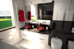 190.-lazienka-czarno-biala-z-czerwona-moazika-i-czerwonymi-szklanymi-umywalkami-bathroom-black-and-white-and-red-mosaic-and-red-sink