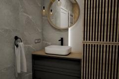 197.-lazienka-z-jodelka-drewno-szarosc-kamien-beton-antracyt-czarne-baterie-bathroom-grey-stone-concrete-wood-black-lamele