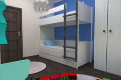 0017. pokoj spidermen, czerwony, niebieski, bialy, children room red, blue, white