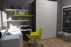 0019. pokoj mlodziezowy szaro zolty szybka metamorfoza, room for teenagers grey and yellow quick make over