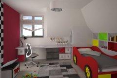 0025. POKOJ DZIECIECY SAMOCHODY CZERWONY CHILDREN ROOM CARS RED