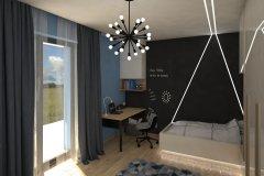 0037. pokoj mlodziezowy szary beton zebra bezowy polysk czarny bialy children room grey concrete beige gloss black white
