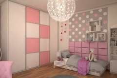 0040. pokoj dla dziewczynki slodki przytulny rozowy bialy szary kropki poduszki children room for girl for little princess sweet cozy pink white grey dots pillows