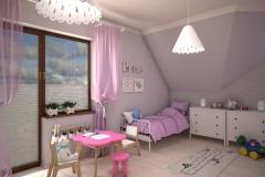 054. pokoj dzieciecy rozowo szary timoore bialy children room pink grey white