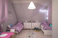 055. pokoj dzieciecy rozowo szary timoore bialy children room pink grey white