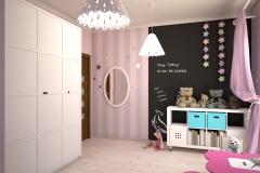 056. pokoj dzieciecy rozowo szary timoore bialy children room pink grey white