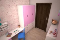 071. pokoj dzieciecy dla dziewczyny rozowy dla ksiezniczki farba tablicowa tapeta rozowy meble ikea children room for little prinsess girl pink