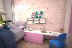 072. pokoj dzieciecy dla dziewczyny rozowy dla ksiezniczki farba tablicowa tapeta rozowy meble ikea children room for little prinsess girl pink