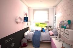 073. pokoj dzieciecy dla dziewczyny rozowy dla ksiezniczki farba tablicowa tapeta rozowy meble ikea children room for little prinsess girl pink