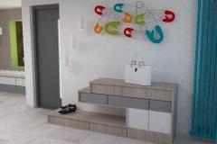0009.-Jasny-przedpokoj-z-kolorowym-akcentem lihgt hall colourfull accent wieszak-Kare-Design