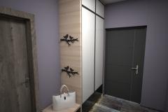 0010. przedpokoj fioletowy jasne drewno ecru hall purple light wood