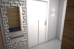018. przedpokoj drewno bialy lustro polysk hall wood white goloss mirror