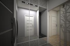 026. przedpokoj szafa czarno bialy hall wardrobe black white