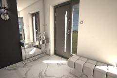 027. przedpokoj glamour chrom marble carrara hall