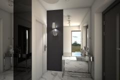 028. przedpokoj glamour chrom marble carrara hall
