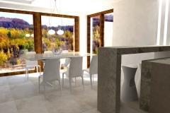 0003. Nowoczesny salon beton drewno