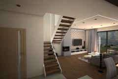 067. salon beton jodelka drewno skandynawski styl bialy przytulny livingroom conrete heritagebone wood scandynavian style white cozy