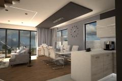 068. salon beton jodelka drewno skandynawski styl bialy przytulny livingroom conrete heritagebone wood scandynavian style white cozy