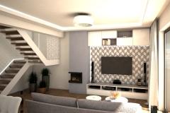 069. salon beton jodelka drewno skandynawski styl bialy przytulny livingroom conrete heritagebone wood scandynavian style white cozy