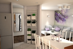 074. salon prowansalski lawendowy fioletowy bialy jasny livingroom provencal lavender purple violet white